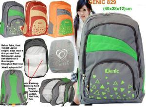 Tas laptop pelajar Genic-829, Polo, Pallazo, Tracker
