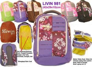 Tas ransel laptop  Livin 981