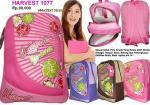 Tas sekolah remaja, Tas ransel, tas backpack ,tas laptop Ransel wanita Harvest 1077