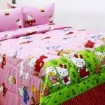 Sprei Katun Motif Anak Hello Kitty Pesawat Pink