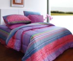 Sprei Motif Aqua Bloom Pink