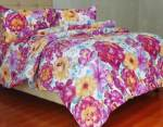 Sprei Motif Beauty Rose Ungu