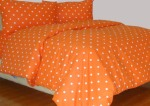 Sprei Motif Dottie Orange