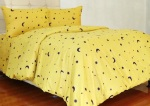 Sprei Motif Starry Night Yellow